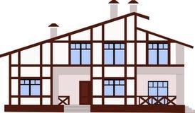 Maison de montagne dans le style de chalet Image libre de droits