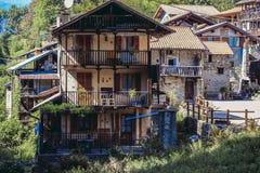 Maison de montagne dans Piémont Photographie stock libre de droits