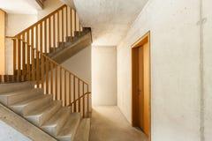 Maison de montagne, escalier Images stock
