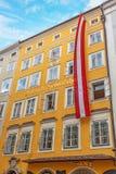Maison de naissance de Wolfgang Amadeus Mozart, Salzbourg Images stock