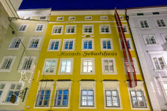 Maison de naissance de Wolfgang Amadeus Mozart, Salzbourg Photos libres de droits