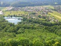 Maison de nature d'arbres de forêt de Frances Image stock
