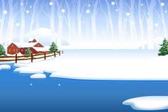Maison de neige Photographie stock libre de droits