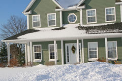 Maison de neige images stock