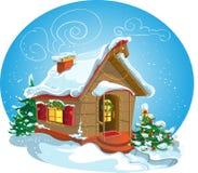 Maison de Noël Image libre de droits