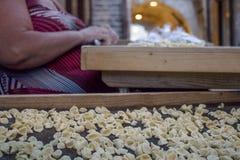 Maison de pâtes faite dans des sud de l'Italie Photos libres de droits