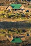 Maison de pêche de mouche Images libres de droits