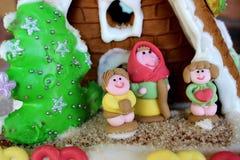 Maison de pain d'épice de Noël Photo stock