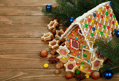 Maison de pain d'épice de Noël Photo libre de droits