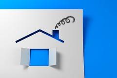 Maison de papier symbolique 3d Photo stock