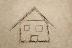 Maison de plage Photos libres de droits