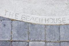 Maison de plage Photo stock