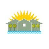 Maison de plage de logo illustration de vecteur