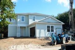 Maison de plage en construction Images stock