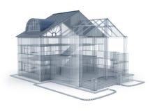 Maison de plan d'architecture Photos stock