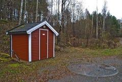 Maison de pompe à eau Images libres de droits