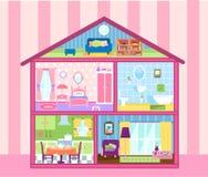 Maison de poupée de filles illustration de vecteur