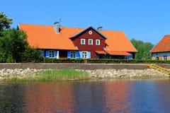 Maison de promenade de lac Photo libre de droits