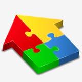 Maison de puzzle Photo stock