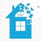 Maison de puzzle illustration de vecteur