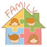 maison de puzzle de famille Images libres de droits