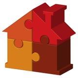 Maison de puzzles Photo stock
