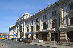 Maison de rapport V I Firsanova (passage de Sandunovskiye) à Moscou Photos libres de droits