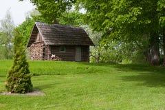 Maison de sauna dans la zone rurale Photos libres de droits