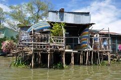 Maison de Shack dans Can Tho, delta du Mékong, Vietnam Images libres de droits