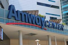 Maison de signe de centre d'Amway d'Orlando d'Orlando Magic Photos libres de droits