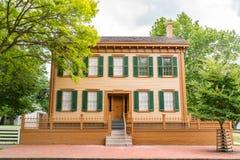 Maison de Springfield d'Abraham Lincoln photo stock