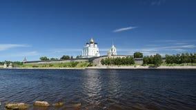 Maison de St Petersburg sur le canal Griboyedov Images libres de droits