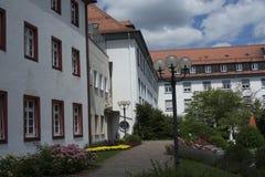 Maison de style de Tudor - propriété magnifique au coeur de l'Allemagne photos libres de droits
