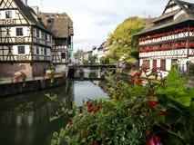 Maison De Tanneurs lub dom garbarzi, jesteśmy jeden rozpoznawalni budynki w Małym Francja a lub Małym Francja zdjęcie stock
