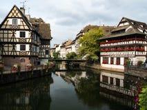 Maison De Tanneurs lub dom garbarzi, jesteśmy jeden rozpoznawalni budynki w Małym Francja a lub Małym Francja obraz stock