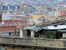 Maison de taudis sur le toit Photographie stock