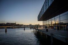 Maison de théâtre danoise royale Port de Copenhague denmark photo stock