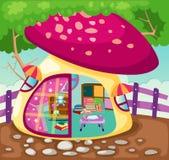 Maison de théâtre de champignon de couche Photos stock