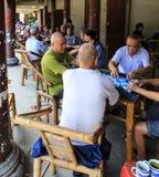 Maison de thé dans la ville yongning dans Sichuan, porcelaine Image libre de droits