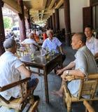 Maison de thé dans la ville yongning dans Sichuan, porcelaine Photographie stock libre de droits