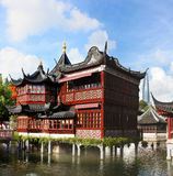 Maison de thé dans le jardin de Yu Image stock