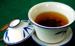 Maison de thé en bambou Photographie stock