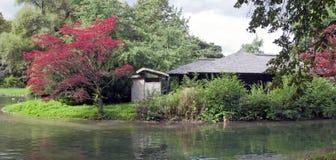 Maison de thé japonaise dans le jardin anglais à Munich, maison de thé germanyjapanese dans le jardin anglais à Munich, Allemagne Photographie stock libre de droits