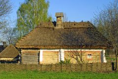 Maison de toit couvert de chaume type Image stock