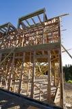 maison de trame en bois Photos stock