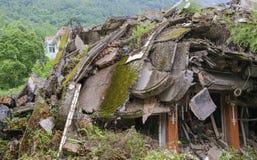 Maison de tremblement de terre Photo libre de droits