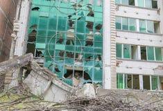 Maison de tremblement de terre Photographie stock