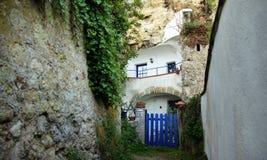 Maison de troglodyte à Amboise dans le Val de Loire photographie stock libre de droits