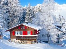 Maison de vacances de l'hiver Photos stock