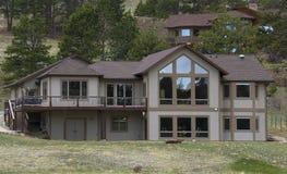 Maison de vacances près de Rocky Mountain Photo stock